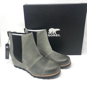Sorel Lea Wedge Dark Grey/Black 10.5